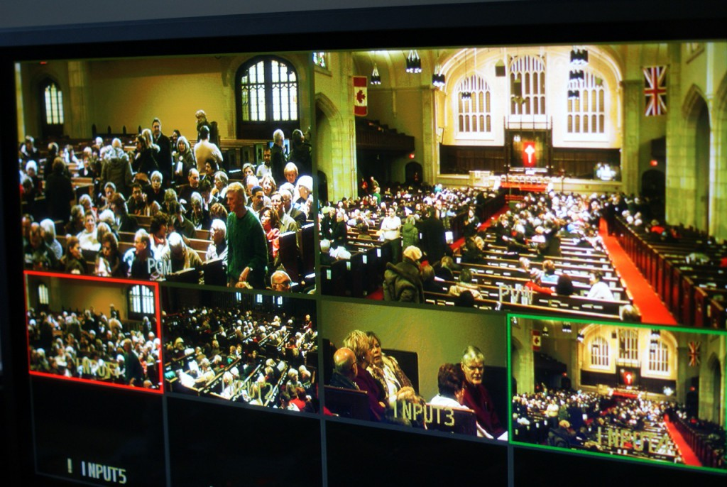 Camera feed in Yorkminster webcasting studio