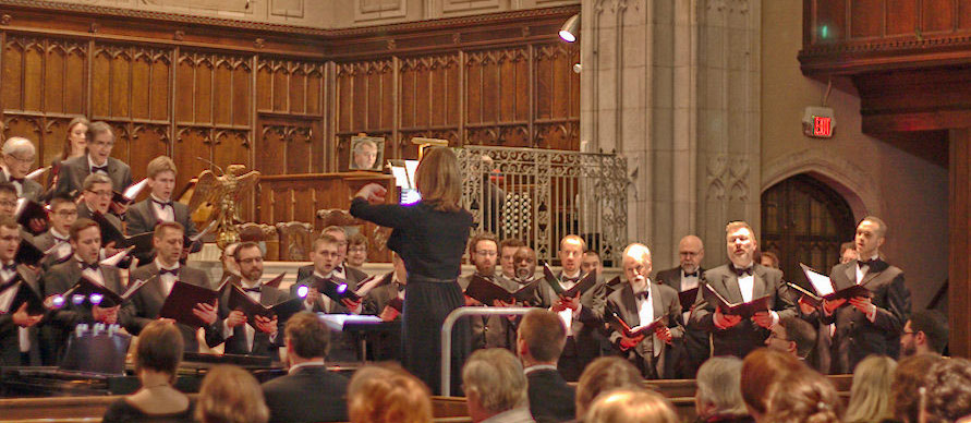 Associate Conductor Caron Daley conducting the TMC 2015