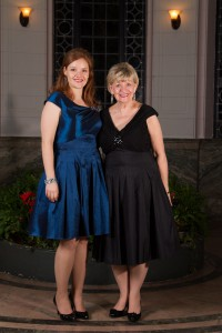 Daughter Jennifer Taverner and mom Marjorie Wiens at the TMC Gala, 2013.