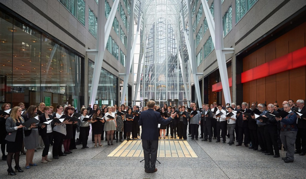 TMC performing at Brookfield Place