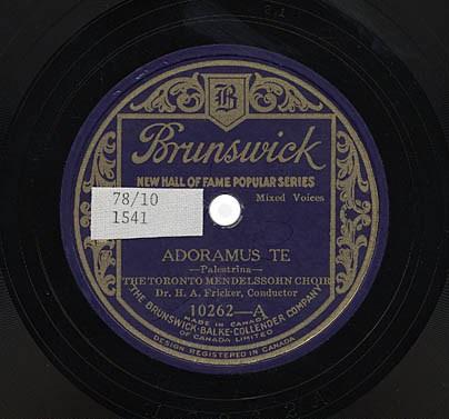 Hear TMC's 1926 recording of Palestrina