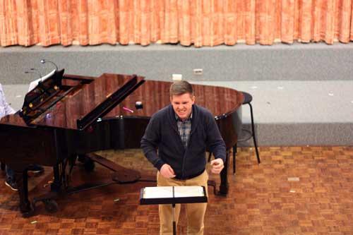 Joshua Harper in rehearsal