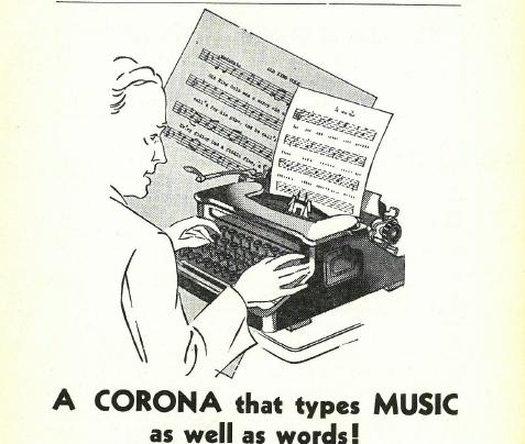 a music typewriter